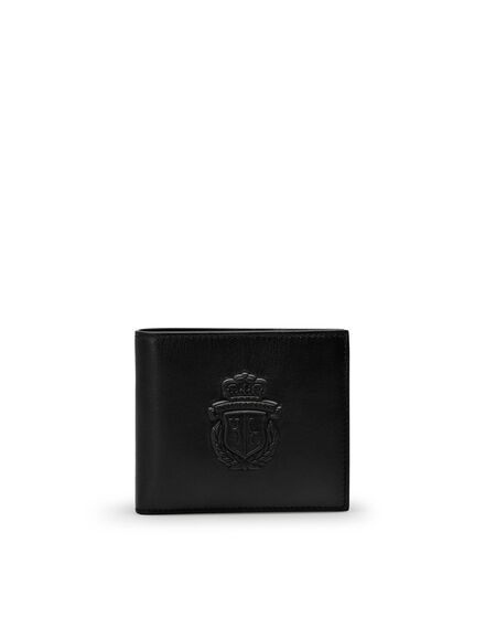 French wallet Embossed Crest