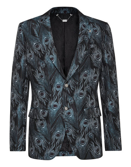 Blazer Super Slim Fit Jacquard Feathers