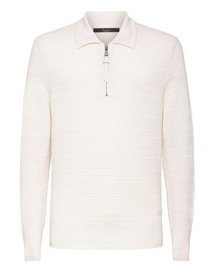 Merino wool Pullover zip mock Istitutional