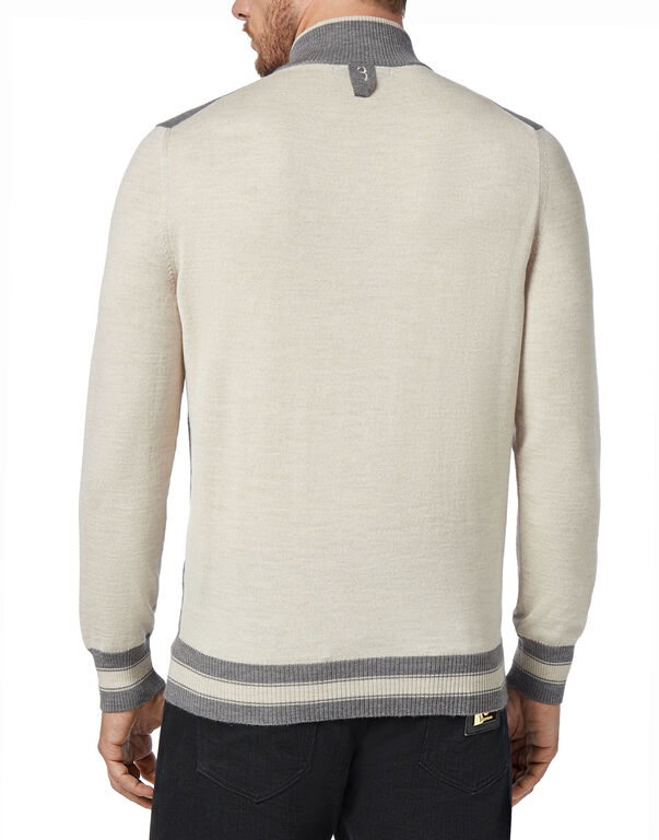 Pullover zip mock Giglio