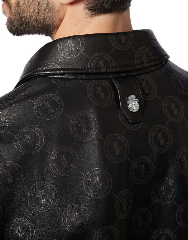 Leather Bomber Members only