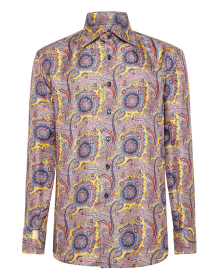 Shirt Gold Cut LS/Flavio Paisley
