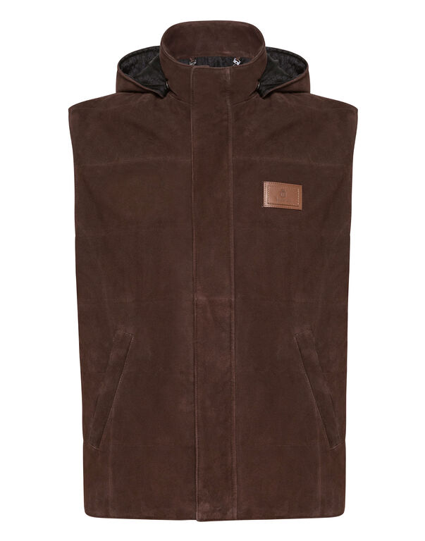 Leather Vest Short Statement
