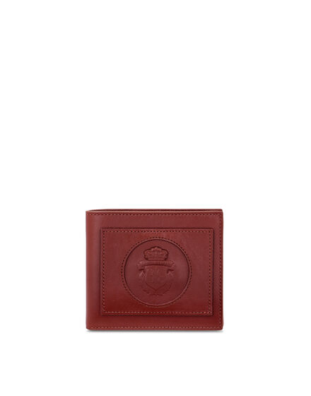 Leather French wallet Crest