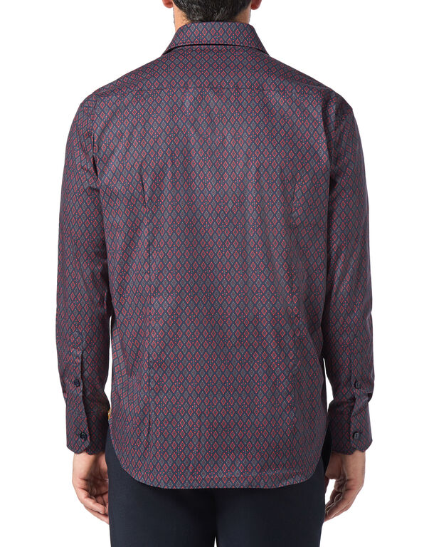 Shirt Gold Cut LS/Flavio Geometric
