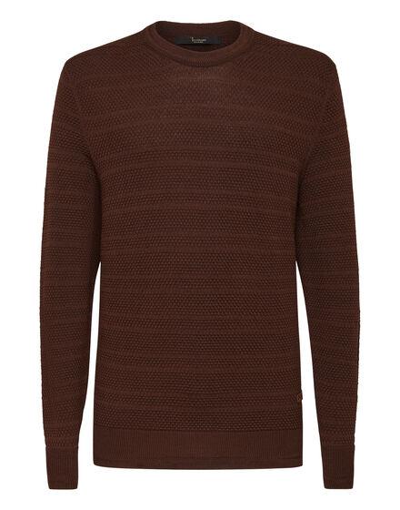 Merino wool Pullover Round Neck LS Istitutional
