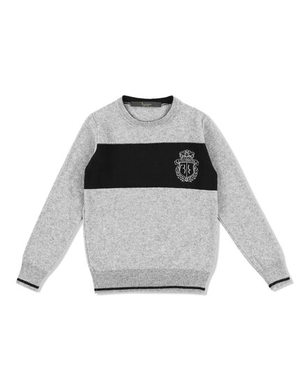 Pullover Round Neck LS Stripes