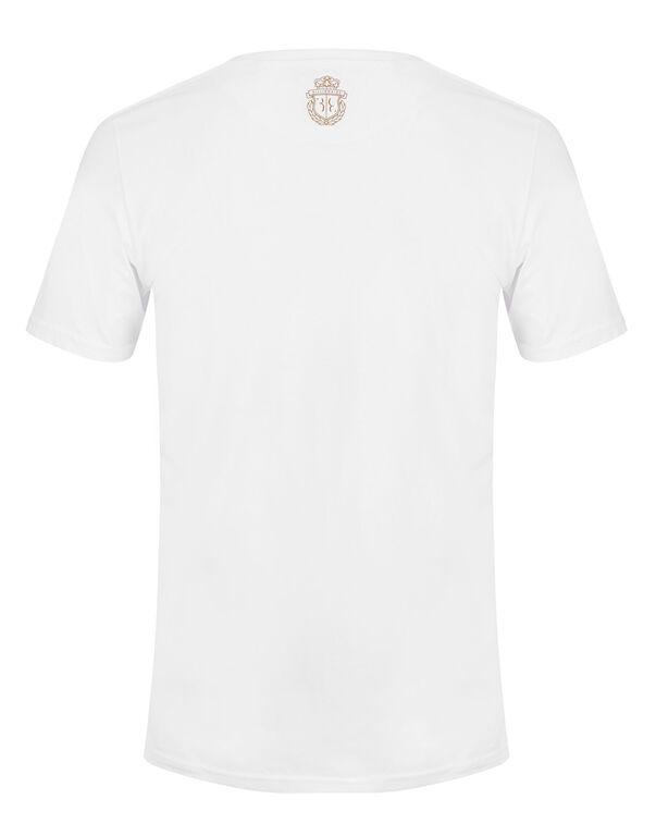 T-shirt V-Neck SS Double Lion