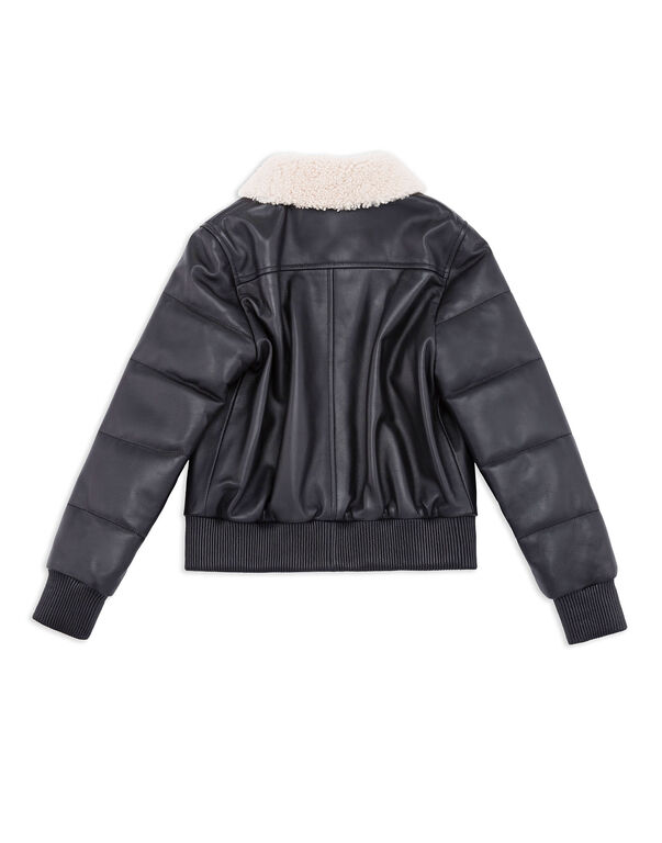"Leather Bomber ""Steel"""