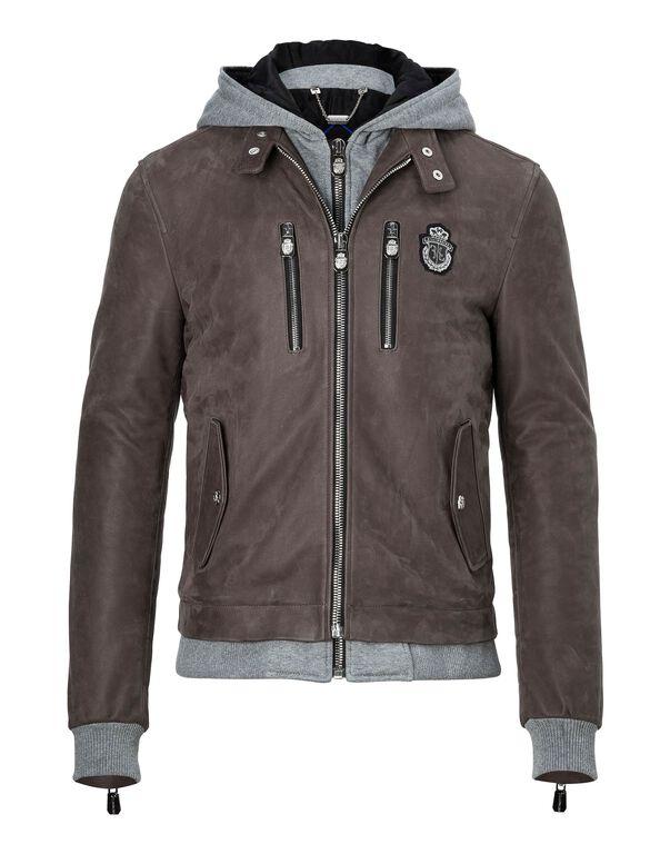 """Leather Moto Jacket """"Ennio"""""""