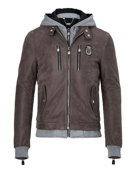 Leather Moto Jacket Ennio