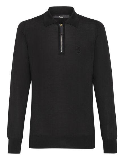 Pullover zip mock LS Luxury