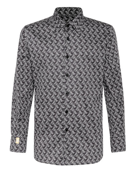 Shirt Silver Cut LS Statement