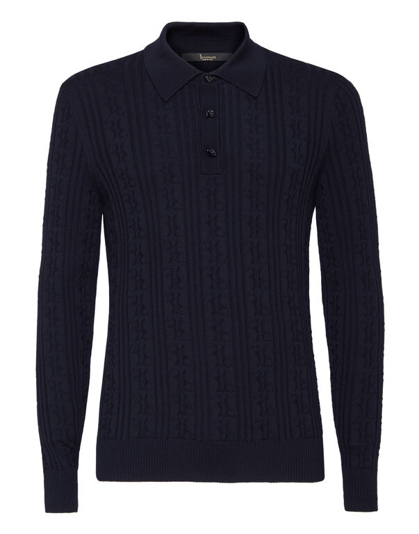 Pullover Polo-Neck LS All over BB