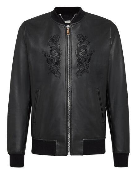 Leather Bomber Baroque