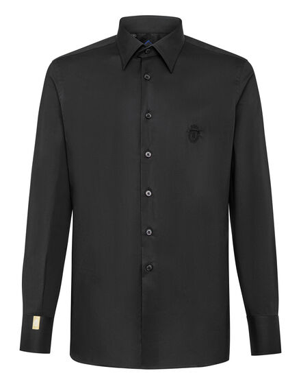 Shirt Gold Cut LS/Milano Crest