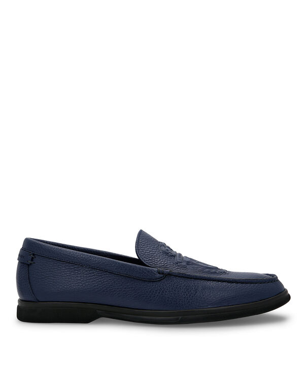 Moccasin Embossed Crest