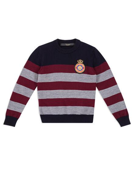Pullover Round Neck LS Crest