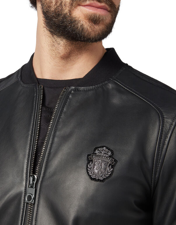 Leather Bomber Crest