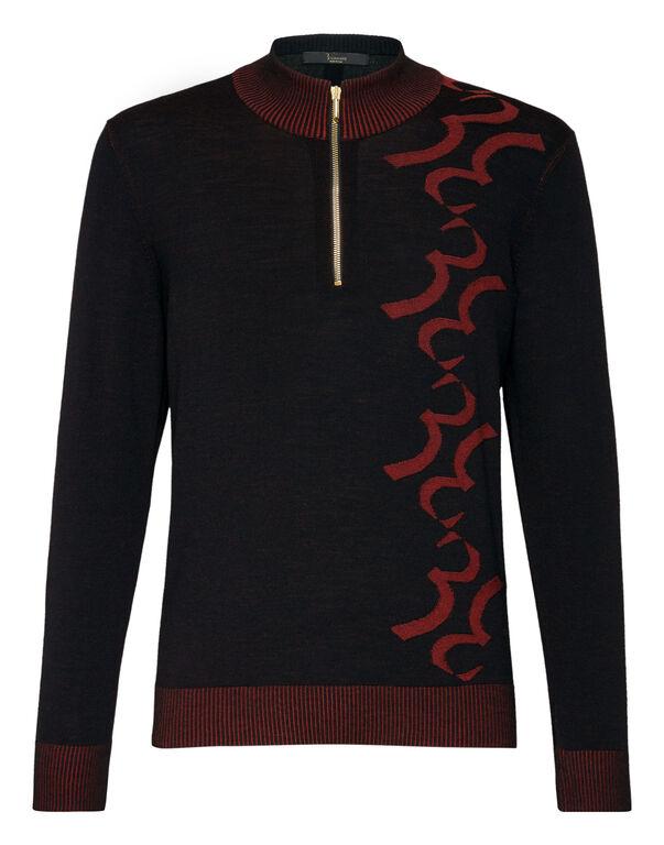 Pullover zip mock Double B