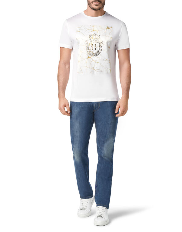T-shirt Round Neck SS Marbled