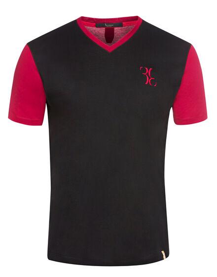 T-shirt V-Neck SS Double B